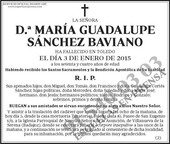 María Guadalupe Sánchez Baviano